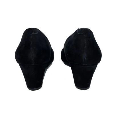 γόβα πλατφόρμα δέρμα καστόρι μαύρο STONEFLY