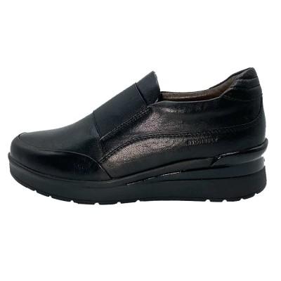 sneaker δέρμα μαύρο αποσπώμενο πέλμα STONEFLY